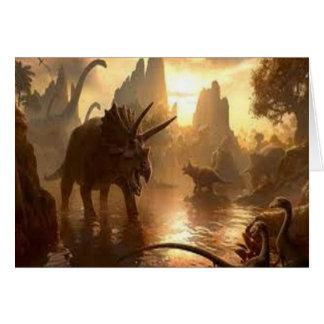 dinosaurio antiguo tarjeta de felicitación