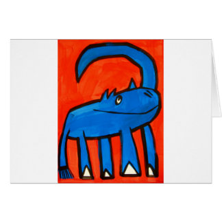 Dinosaurio azul tarjeta de felicitación