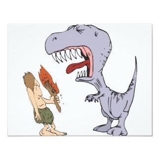 Dinosaurio Burping Invitación 10,8 X 13,9 Cm