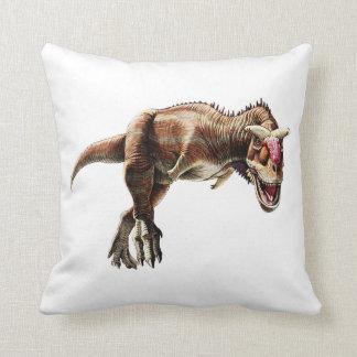 Dinosaurio carnívoro impresionante del regalo del cojín decorativo