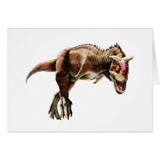 Dinosaurio carnívoro impresionante del regalo del tarjeta pequeña
