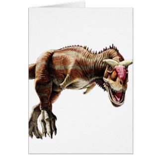 Dinosaurio carnívoro impresionante del regalo del tarjeta de felicitación