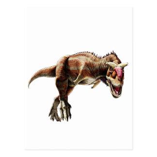 Dinosaurio carnívoro impresionante del regalo del postal