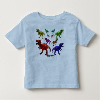 ¡Dinosaurio colorido Rawr! Camiseta