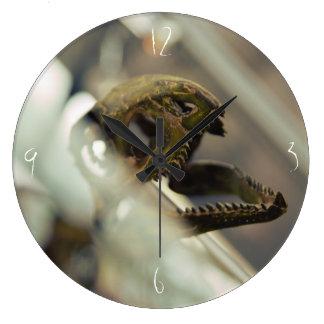 Dinosaurio cráneo reloj redondo grande