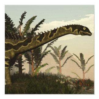 Dinosaurio de Agustinia - 3D rinden Invitación 13,3 Cm X 13,3cm