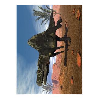 Dinosaurio de Arizonasaurus en el desierto Invitación 13,9 X 19,0 Cm