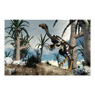 Dinosaurio de Caudipteryx - 3D rinden Papelería