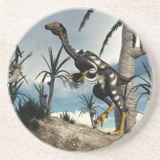 Dinosaurio de Caudipteryx - 3D rinden Posavasos