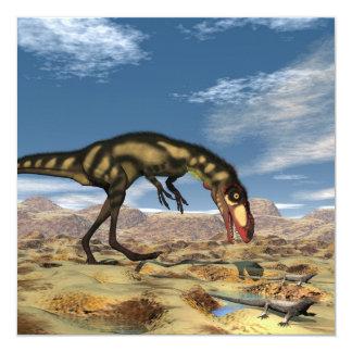 Dinosaurio de Dilong - 3D rinden Invitación 13,3 Cm X 13,3cm