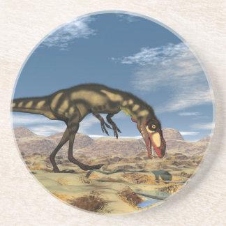 Dinosaurio de Dilong - 3D rinden Posavasos De Arenisca