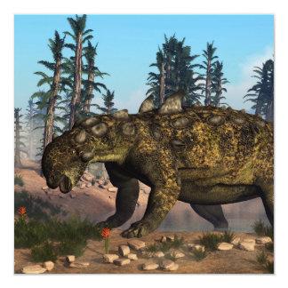 Dinosaurio de Euoplocephalus - 3D rinden Invitación 13,3 Cm X 13,3cm
