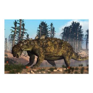 Dinosaurio de Euoplocephalus - 3D rinden Papelería