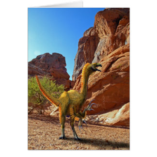 Dinosaurio de Falcarius Tarjetón
