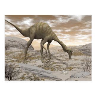 Dinosaurio de Gallimimus - 3D rinden Postal
