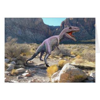 Dinosaurio de Gigantosaurus Felicitación