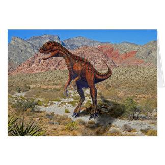 Dinosaurio de Herrersarus Tarjetón
