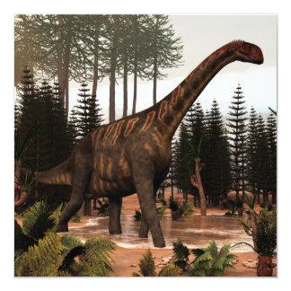 Dinosaurio de Jobaria - 3D rinden Invitación 13,3 Cm X 13,3cm