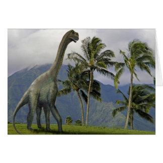 Dinosaurio de Jobaria Felicitacion