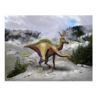 Dinosaurio de Lambeosaurus Tarjeta Postal