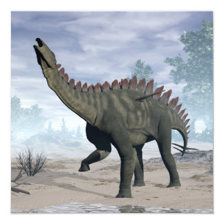 Dinosaurio de Miragaia - 3D rinden Invitación 13,3 Cm X 13,3cm