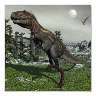 Dinosaurio de Nanotyrannus - 3D rinden Invitación 13,3 Cm X 13,3cm