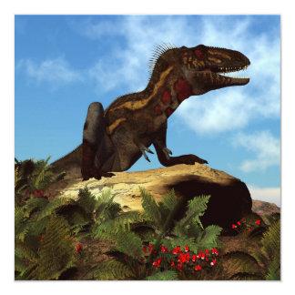 Dinosaurio de Nanotyrannus que descansa - 3D Invitación 13,3 Cm X 13,3cm