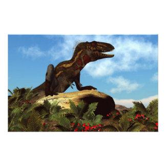 Dinosaurio de Nanotyrannus que descansa - 3D Papelería