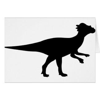 Dinosaurio de Pachycephalosaurus Tarjeta