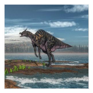 Dinosaurio de Saurolophus - 3D rinden Invitación 13,3 Cm X 13,3cm