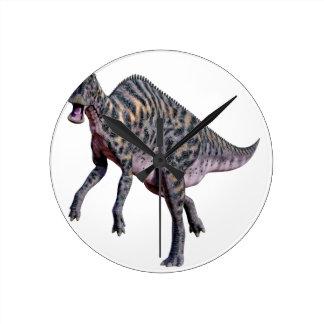 Dinosaurio de Saurolophus Reloj Redondo Mediano