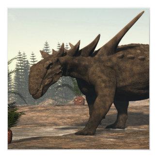 Dinosaurio de Sauropelta - 3D rinden Invitación 13,3 Cm X 13,3cm