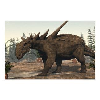 Dinosaurio de Sauropelta - 3D rinden Papelería