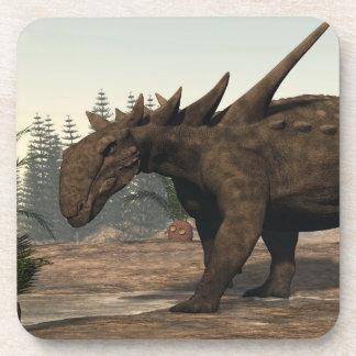 Dinosaurio de Sauropelta - 3D rinden Posavasos