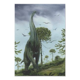 Dinosaurio de Sauroposeidon del vintage con volar Invitación 8,9 X 12,7 Cm