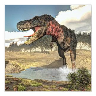 Dinosaurio de Tarbosaurus - 3D rinden Invitación 13,3 Cm X 13,3cm