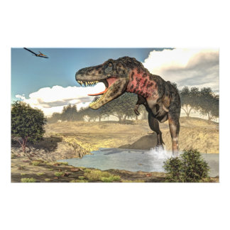 Dinosaurio de Tarbosaurus - 3D rinden Papelería