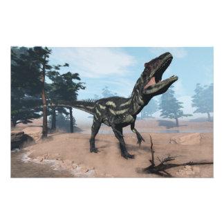 Dinosaurio del Allosaurus que ruge - 3D rinden Papelería