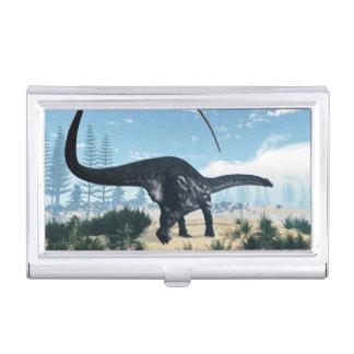 Dinosaurio del Apatosaurus en el desierto - 3D Caja Para Tarjetas De Visita