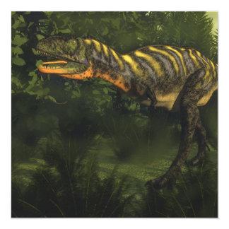Dinosaurio del Aucasaurus - 3D rinden Invitación 13,3 Cm X 13,3cm