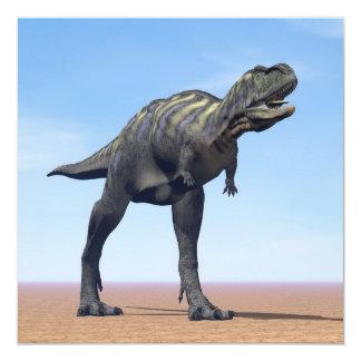 Dinosaurio del Aucasaurus en el desierto - 3D Invitación 13,3 Cm X 13,3cm