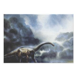 Dinosaurio del Barapasaurus del vintage con las nu Comunicado Personal