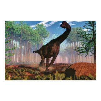 Dinosaurio del Brachiosaurus - 3D rinden Papelería