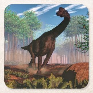 Dinosaurio del Brachiosaurus - 3D rinden Posavasos Cuadrado De Papel