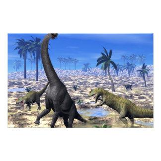 Dinosaurio del brachiosaurus del Allosaurus que Papelería