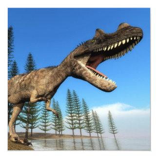 Dinosaurio del Ceratosaurus en la línea de la Invitación 13,3 Cm X 13,3cm