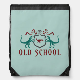 Dinosaurio del color de la escuela vieja mochilas