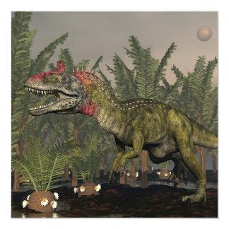 Dinosaurio del Cryolophosaurus - 3D rinden Invitación 13,3 Cm X 13,3cm