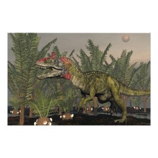 Dinosaurio del Cryolophosaurus - 3D rinden Papelería