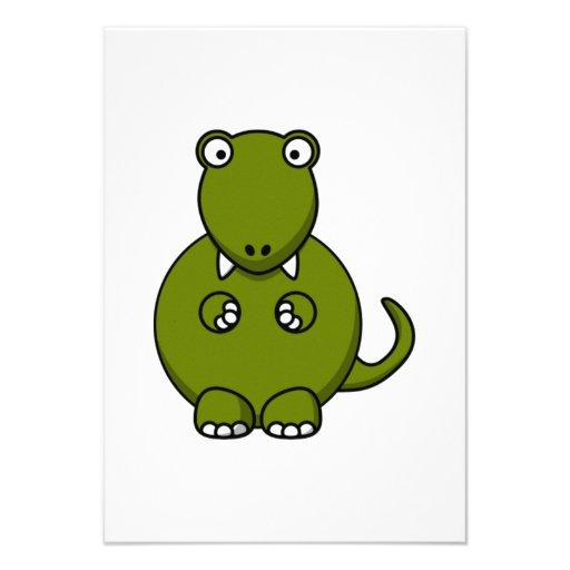 Dinosaurio del dibujo animado anuncio personalizado